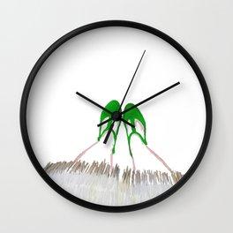 Small Green Shoes Wall Clock