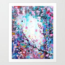 Weathered Sakura Art Print