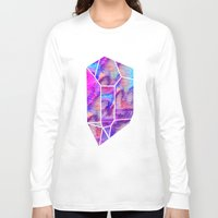 geode Long Sleeve T-shirts featuring Handpainted Watercolor Geode by Hillary Murphy