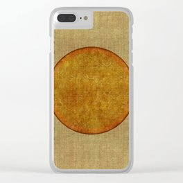 """""""Golden Circle Japanese Inspiration"""" Clear iPhone Case"""