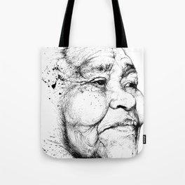 """Gabriela"" of the Kaweskar People B+W Tote Bag"