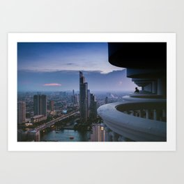 Bangkok Skyline Art Print