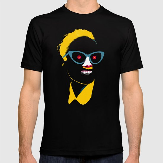 Smile in black T-shirt