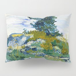 Vincent van Gogh - The Rocks, Rocks With Oak Tree - Digital Remastered Edition Pillow Sham