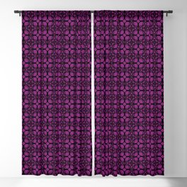 Black and Purple Fishnets Blackout Curtain