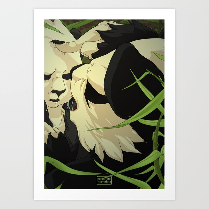 Pangoro Scolding Art Print