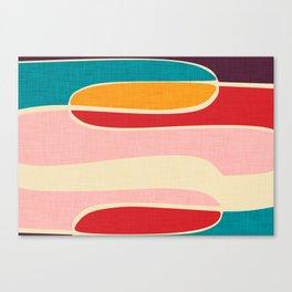 Wondering Waves #homedecor #midcenturydecor Canvas Print