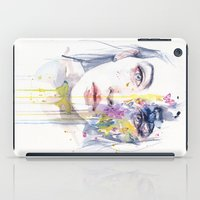 bow iPad Cases featuring miss bow tie by agnes-cecile
