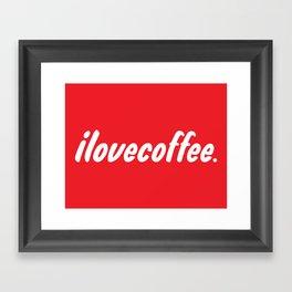 I love [illy] coffee Framed Art Print