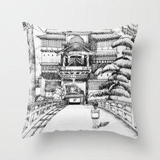 Spirited Away Bathhouse Throw Pillow