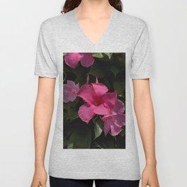 Pink Allamanda - Mandevilla splendens Unisex V-Neck