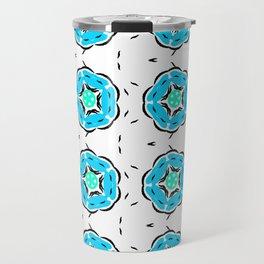 Blooming Blue Travel Mug