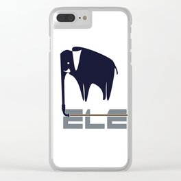 Elephant hose logo Clear iPhone Case