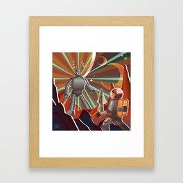 Space Rendez Vu Framed Art Print
