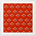 Las Flores - Red 02 (Patterns Please) by lalainelim