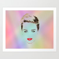 miley Art Prints featuring Miley by RSG514