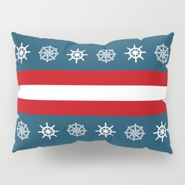 Compass and sailing wheel Pillow Sham
