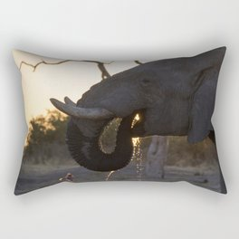 Taking a Drink Rectangular Pillow