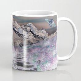 Cobble Stone Road Through The Mountains Towards Saturn Coffee Mug