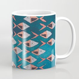 School of Fish Pattern Coffee Mug