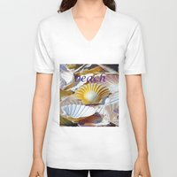 shells V-neck T-shirts featuring Shells by jacqi elmslie