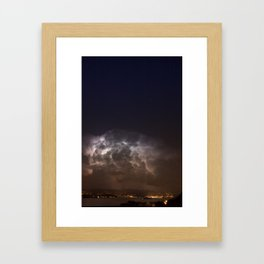Radiating Storm Framed Art Print