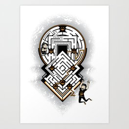 Breaking out of the Maze of Fear Art Print