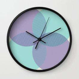 Purple Circle Wall Clock
