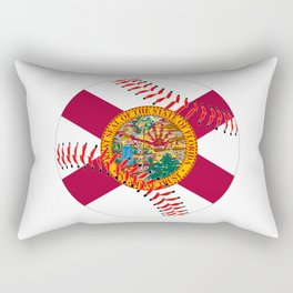 Florida Flag Baseball Rectangular Pillow