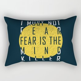 Dune - The Litany Against Fear (WHT) Rectangular Pillow