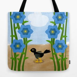 Crow in the field Tote Bag