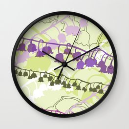 Layered Lily Wall Clock