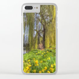 Daffodils and Willow Tree Clear iPhone Case
