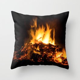 Fire flames Throw Pillow