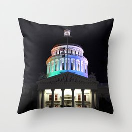 California Capitol Pride - Marriage equality celebration Throw Pillow