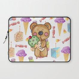 Birthday Boy Bear Cake and Ice Cream Yummy Laptop Sleeve