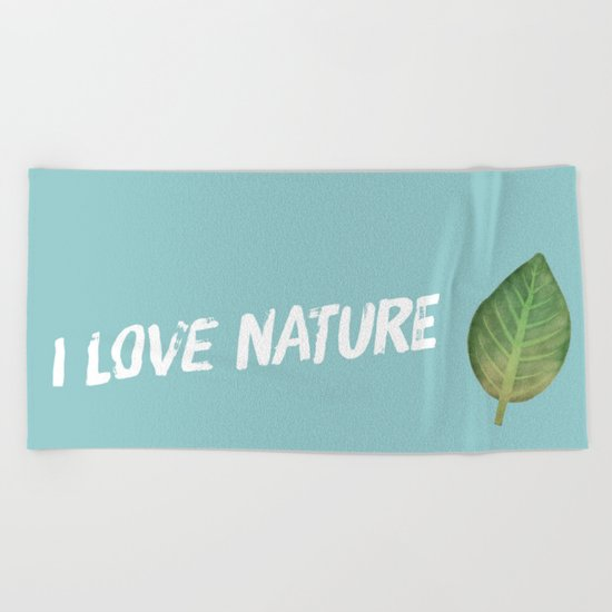 leaf-535 Beach Towel
