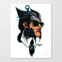 karl lagerfeld Canvas Prints featuring wolvereen  vs Karl Lagerfeld  by el brujo