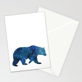 Watercolour Bear Blue Stationery Cards