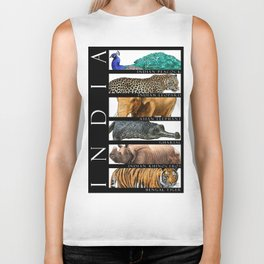 Animals of India Biker Tank