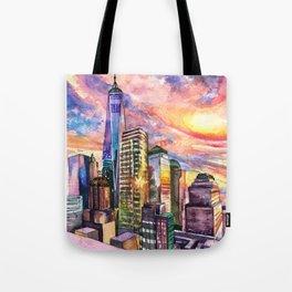 New York On Mars Tote Bag