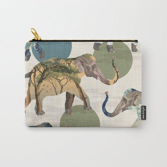 Elephant Polka Carry-All Pouch