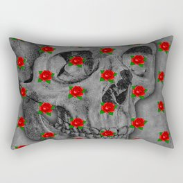 No Bed of Roses / Skull and rose design Rectangular Pillow