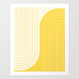 Two Tone Line Curvature V Art Print
