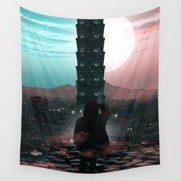 Tower 101 Taipei Manipulation Wall Tapestry