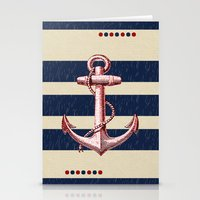 anchors Stationery Cards featuring Anchors by Katherine Marshall