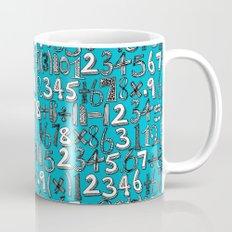math doodle blue Mug