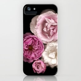 Purple, Pink, and White Roses iPhone Case