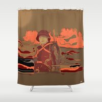 soldier Shower Curtains featuring Soldier ( drawing) by Ganech joe