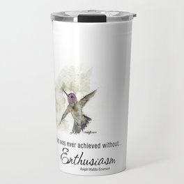 Nothing Great was ever achieved without Enthusiasm – RW Emerson Travel Mug